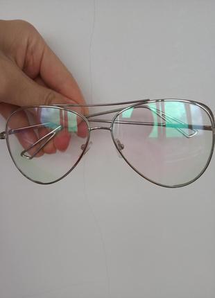 Очки имедживые, прозрачное стекло