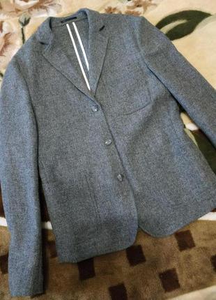 Жакет пиджак блейзер 100%lana wooll asos 8-10