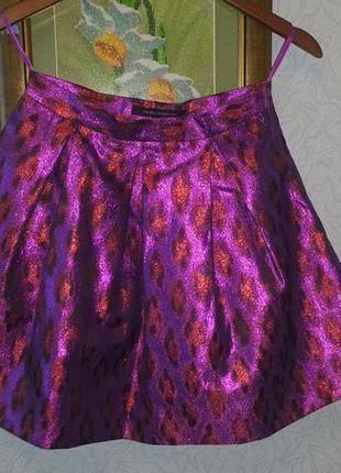 Супер яркая эффектная юбка french connection форма куколка