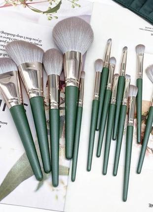 Кисти для макияжа, набор 14 шт