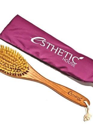 Щітка для сухого масажу тіла esthetic house dry massage brush