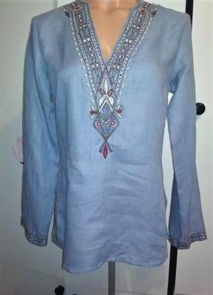 Блуза с вышивкой, лён