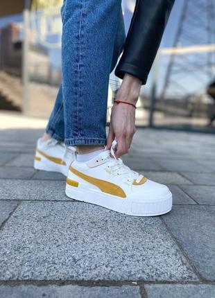 Puma cali yellow женские кроссовки наложка2 фото