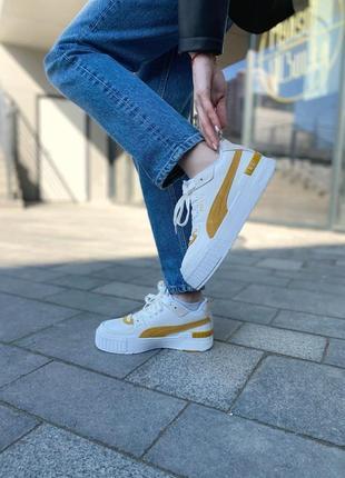 Puma cali yellow женские кроссовки наложка3 фото