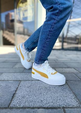 Puma cali yellow женские кроссовки наложка4 фото