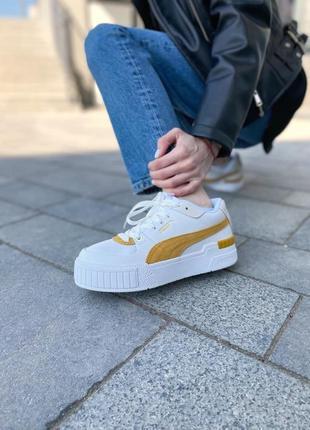 Puma cali yellow женские кроссовки наложка7 фото