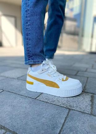 Puma cali yellow женские кроссовки наложка