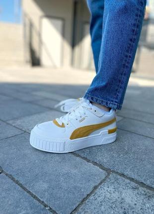 Puma cali yellow женские кроссовки наложка5 фото