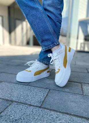Puma cali yellow женские кроссовки наложка8 фото