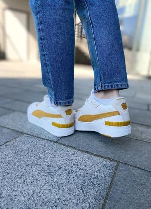 Puma cali yellow женские кроссовки наложка6 фото