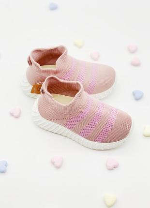 Текстильные кроссовки-хайтопы для девочек