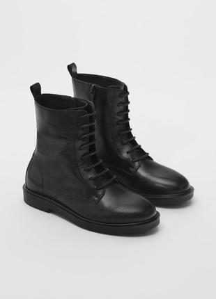 Кожанные ботинки zara 31 и 32  размер.
