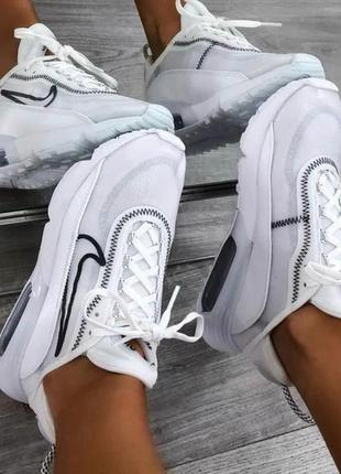 Женские кроссовки nike air max топ качества 36 37 38 39 40 белые