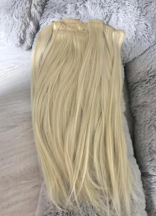 Натуральные волосы блонд тресы 53 см