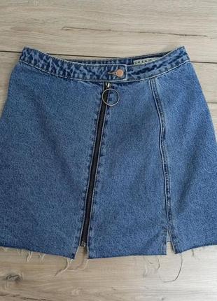 Джинсова спідниця міні джинсовая юбка