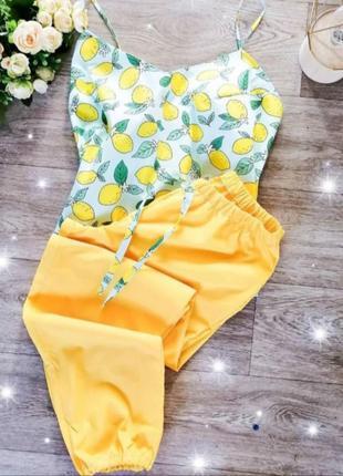 Пижама лимоны