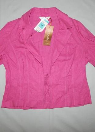 Marks&spencer пиджак жакет балеро модный лён вискоза uk14 eur42 новый2 фото