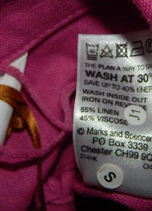 Marks&spencer пиджак жакет балеро модный лён вискоза uk14 eur42 новый5 фото