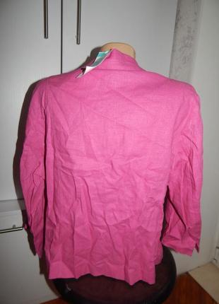 Marks&spencer пиджак жакет балеро модный лён вискоза uk14 eur42 новый4 фото