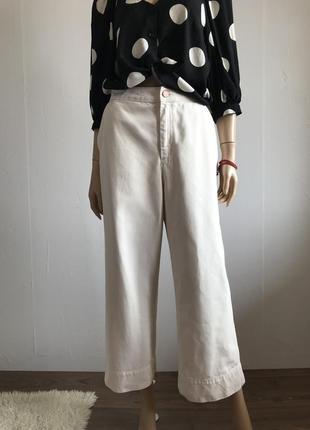 """Стильные джинсы кюлоты с высокой посадкой «monki"""""""