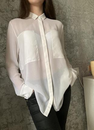 Шёлковая блуза рубашка от люксового бренда