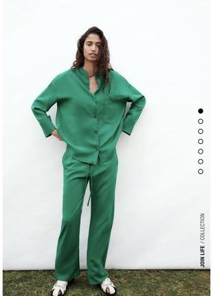 Костюм брючный летний рубашка и брюки яркий zara оригинал