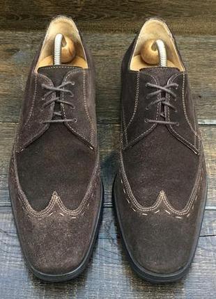Navyboot. замшевые мужские туфли. броги. кожаные туфли.