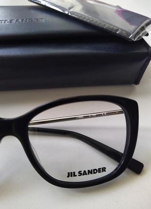 Новая оправа jil sander оригинал очки премиум жиль сандер made in italy cateye7 фото