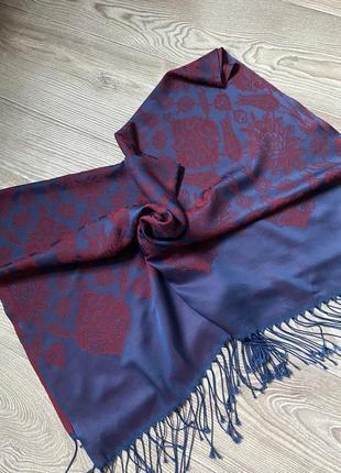 Большой шарф палантин из натурального шелка