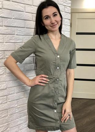 Скидка 🔥 джинсовое платье халат на кнопках selected femme