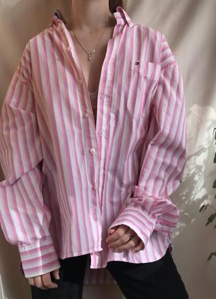 Винтажная рубашка tommy hilfiger винтаж вінтаж