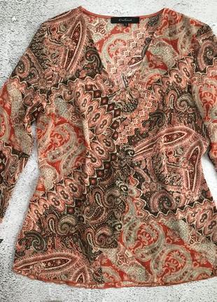 Нежная шифоновая блуза туника с боковыми разрезами one touch. 38, 40 евро
