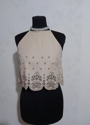Трендовая укороченая блуза- топ