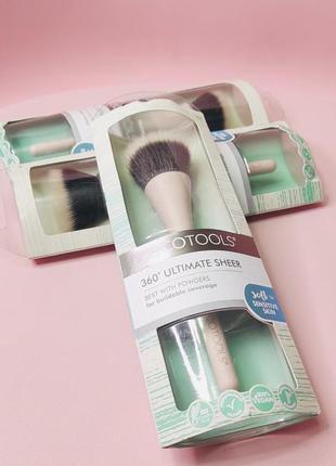 Кисть для пудры ecotools 360° ultimate sheer brush