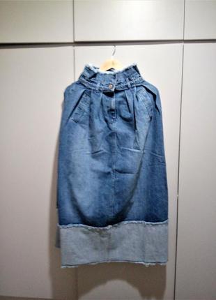 44-46 р модная джинсовая юбка benetton