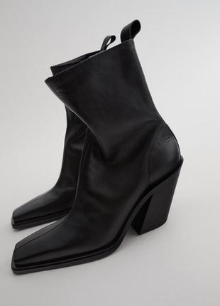 Демисезонные,кожаные ботинки,ботильоны zara