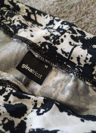 Мини юбка черно-белая хлопок4 фото