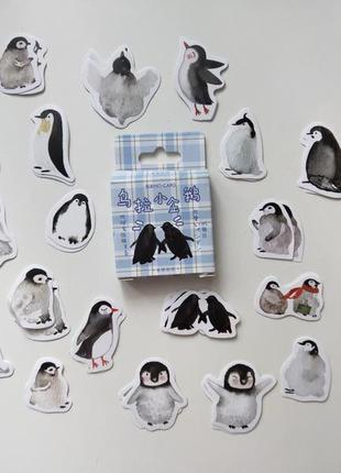 Набор наклеек, стикеров для скрапбукинга пингвины