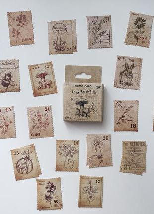 Набор наклеек, стикеров для скрапбукинга марки