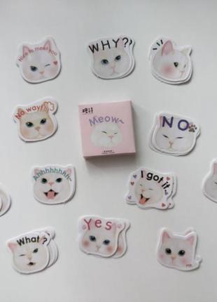 Набор наклеек, стикеров для скрапбукинга коты
