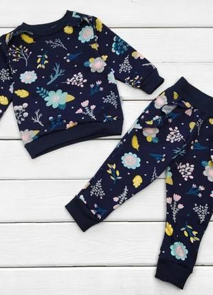 😍красивый костюм flowers, двухнитка