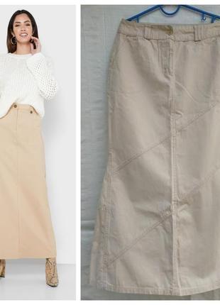Etam бежевая хлопковая юбка, р.10-38