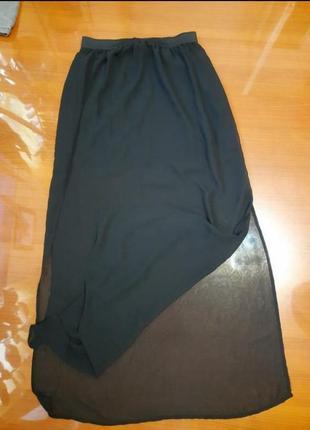 Распродажа! доиннная легкая юбкас разрезами по бокам