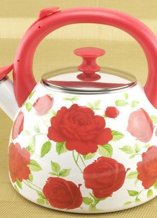 Чайник эмалированный a-plus со свистком 2.8 л
