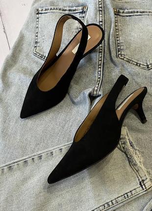 Туфли с открытой пяткой h&m premium