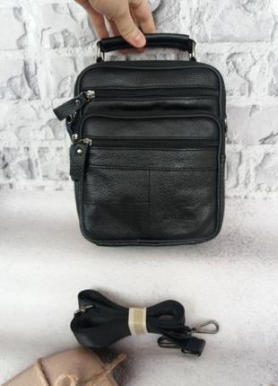 Мужская кожаная сумка чоловіча шкіряна сумочка из натуральная кожа барсетка кожа