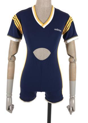 Винтажный костюм футболка топ комбинезон adidas originals лого блузка топ шорты