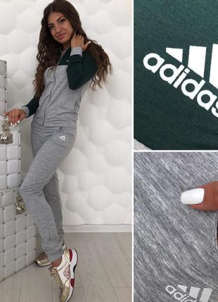 🔥супер цена! женский спортивный костюм серый жіночий спортивний костюм сірий