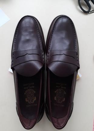 Туфли мокасины кожаные 32 см след