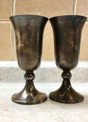 Новые серебряные рюмки стопки серебро 925 пробы позолота 925 проба